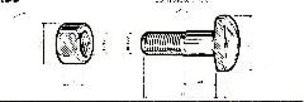 Bullone con dado fissaggio ruote a raggiera 18x118