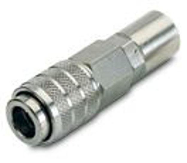Rubinetto rapido con portagomma - tubo mm 6x14