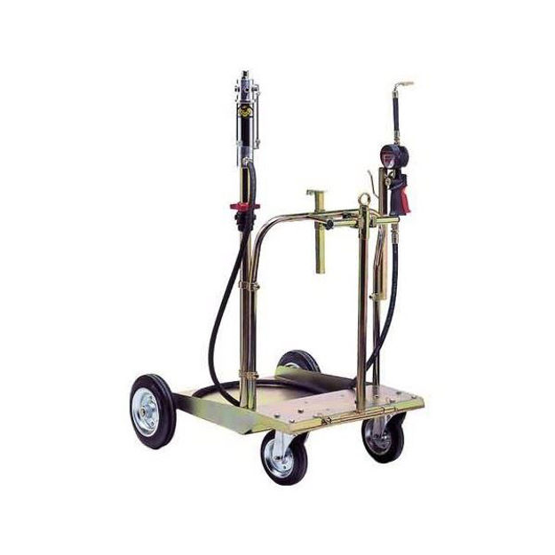 aeropulsometro con carrello per fusto olio da 30/60 Kg.