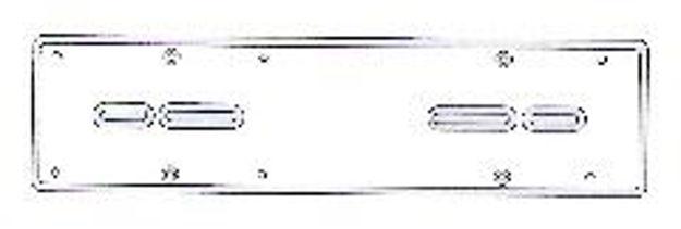 portatarga posteriore in alluminio