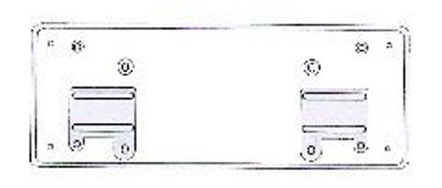 portatarga anteriore