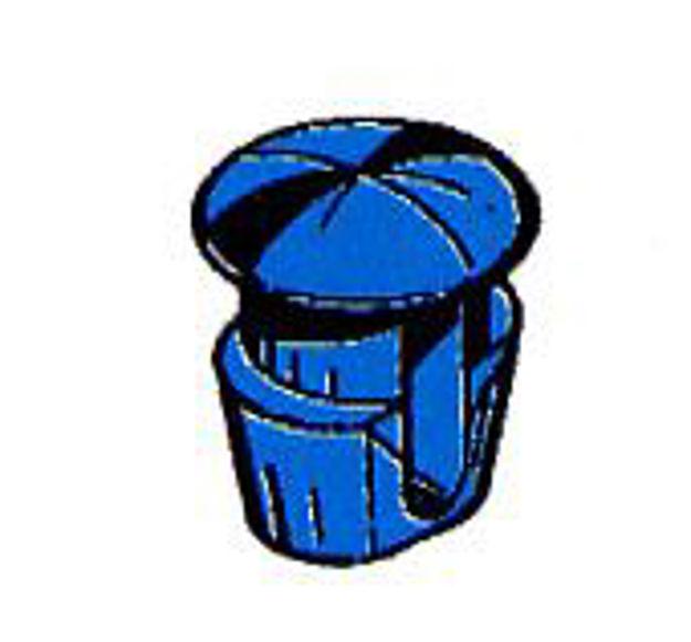 bottone fissaggio targa blu