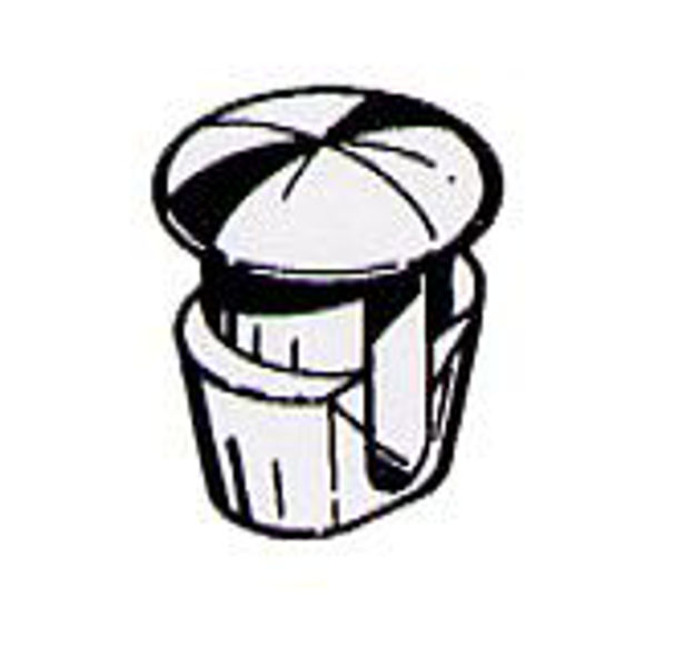 bottone fissaggio targa bianco