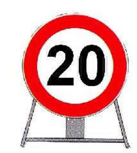 Cartello limite velocità 20 km/h