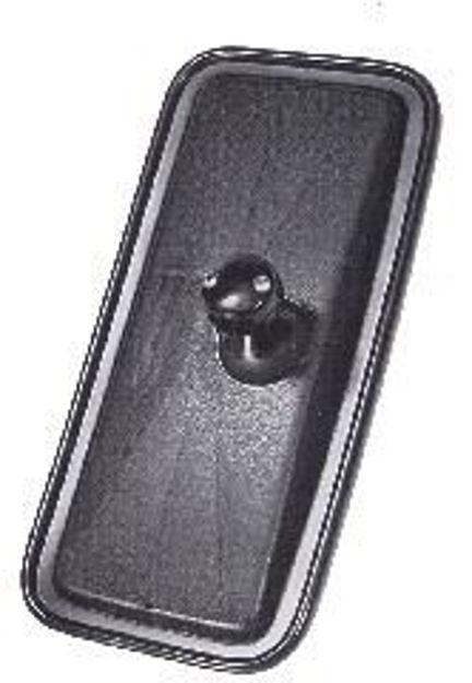 Coppa specchio retrovisore per Man e Volvo in plastica nera con misure 375x185 mm