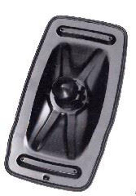 Coppa specchio Scania 93/142/143 manuale di colore nero con misure 425x233