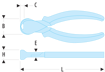 Immagine di Tronchesi a tagliente frontale - 190.CPESLS