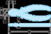 Immagine di Tronchese diagonale - Modello per elettricista | 391.16CPE