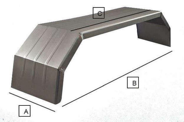 Parafango sagomato in ferro per cifa