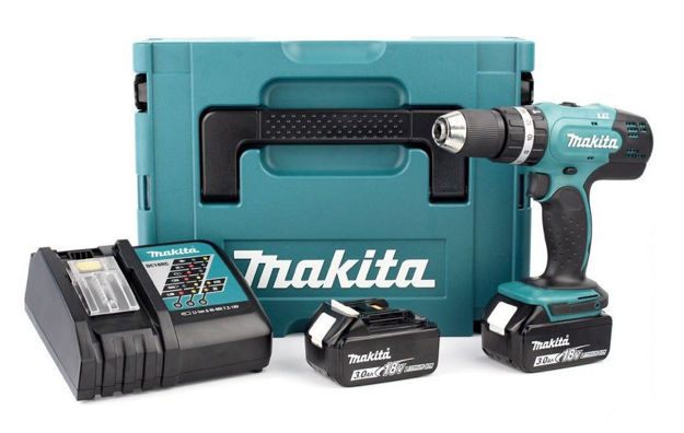 Immagine di Trapano avvitatore a batteria 18V Makita DHP485RFJ
