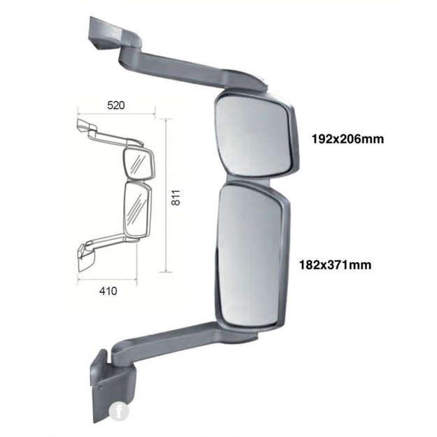 specchio Eurocargo con braccio lungo