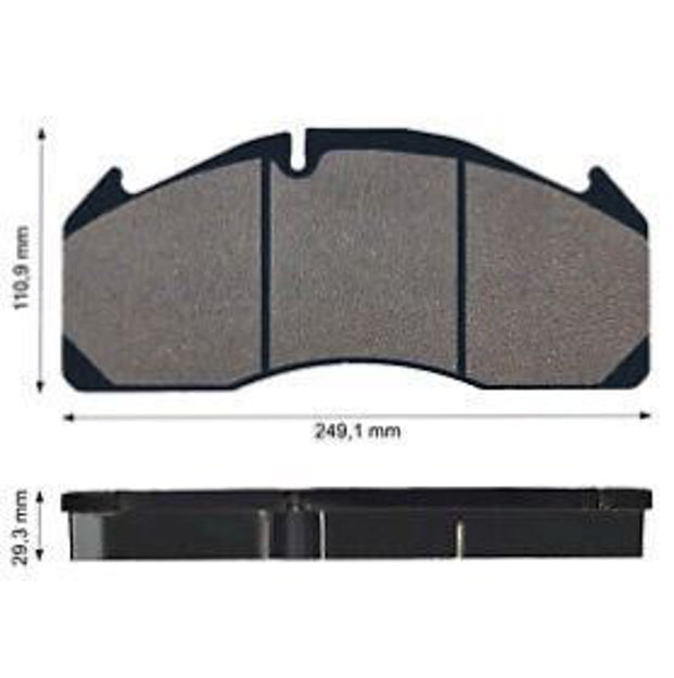 Pastiglie Freno anteriori e posteriori per VOLVO FH12/ FH16/ FL6/ FM DAL 2005