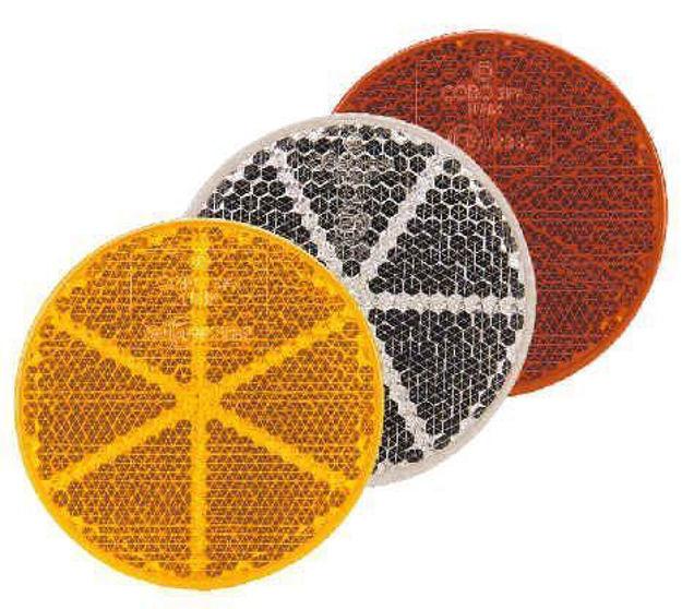 Catadiottro adesivo arancio