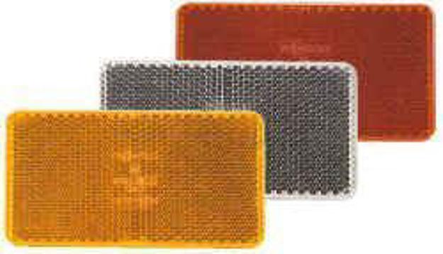 Catadiottro adesivo rettangolare arancio