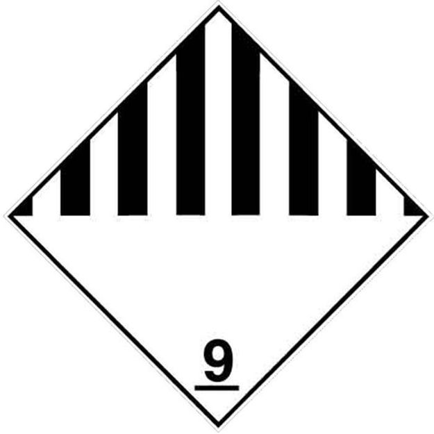 Etichetta adesiva classe 9