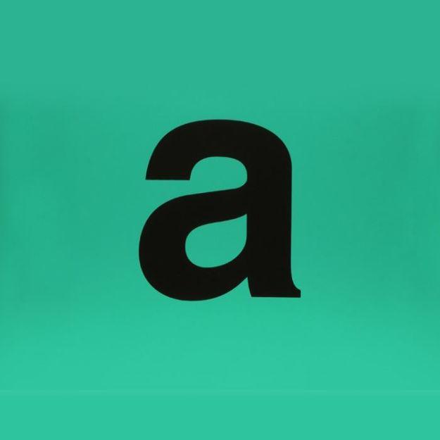 Etichetta adesiva verde lettera a