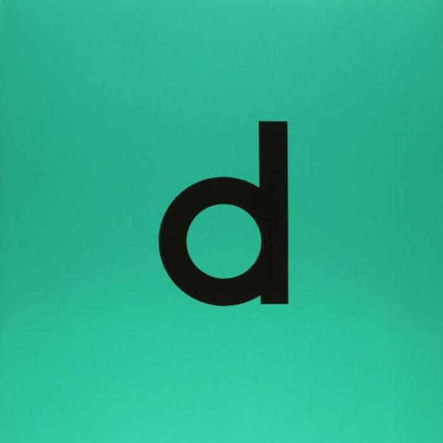 Etichetta verde con lettera d