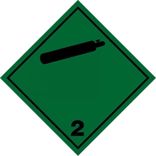 Etichetta adesiva classe 2 gas compresso