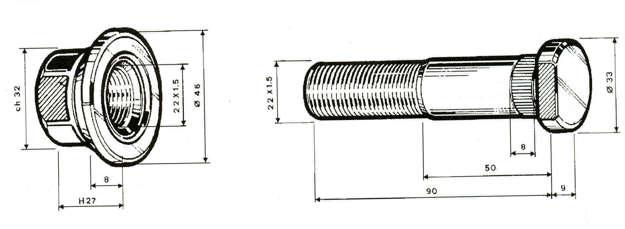 colonnetta mozzo 190 per iveco turbostar