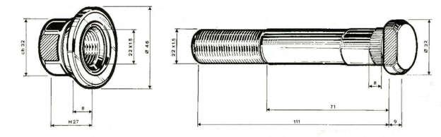 colonnetta posteriore per astra BM HD7